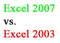 Excel 2007 vs. Excel 2003
